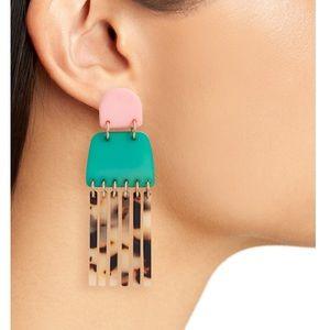 Lele Sadoughi Empire Fringe Earrings